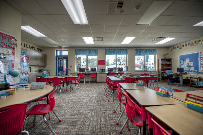 Modern Elementary Classroom : Gilchrist elementary classroom wing mld architects